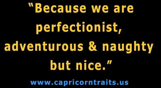 Because we are perfectionist, adventurous-& naughty but nice.