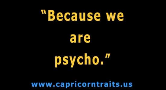 Cause we are psycho