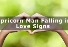 Capricorn Man- Falling in Love Signs
