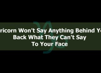 Capricorn Won't Say Anything Behind Your Back What they Can't Say To Your Face