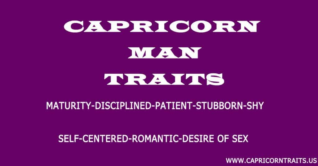 Characteristics of capricorn man