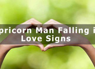Capricorn Man- Falling in Love Signs