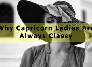 Capricorn Ladies Are Always Classy