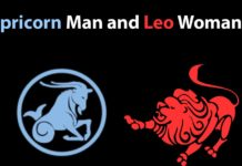 capricorn man leo woman