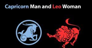 capricorn man leo woman
