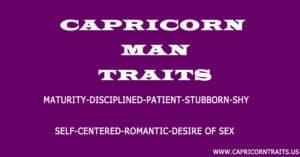 Capricorn Personality Traits Male